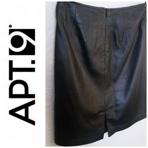 Black Leather Skirt | Apt. 9 | Women's 4